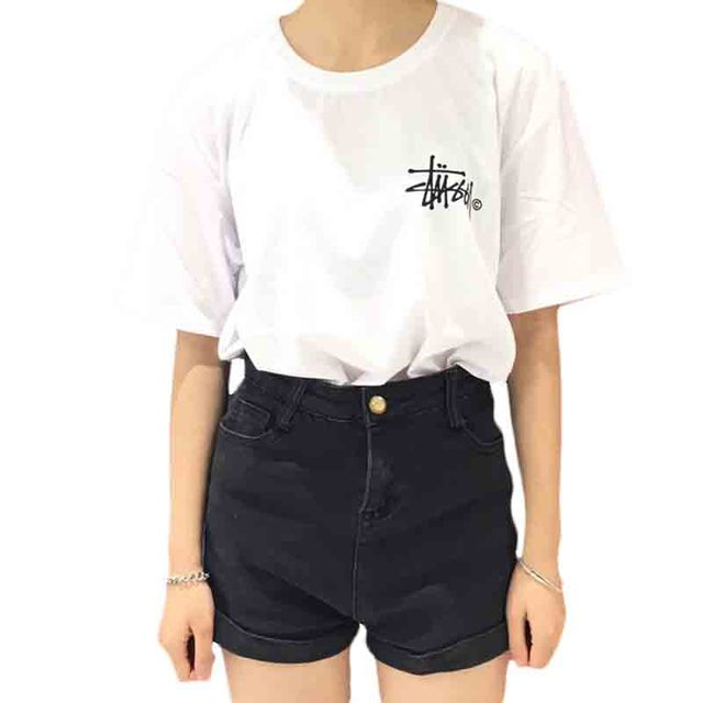 2016 Fashion Brand Letter Printed Loose T-shirts for Women Female T-shirt Couples Dress Harajuku Short Sleeve T shirt Women Top