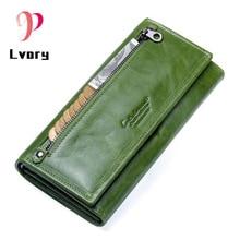 цена New Women Wallets Genuine Leather Wallet Women Purses  Coin Clutch Women's Purses With Zipper Famous Brands Card Holder Wallet  в интернет-магазинах