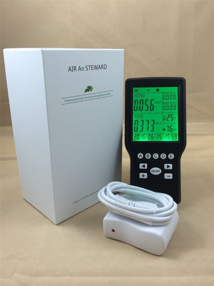 Handheld digital indoor Air quality TVOC monitor Formaldehyde   Detector tvoc air quality monitor indoor smart formaldehyde air quality detector