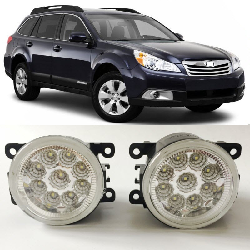 Car-Styling For Subaru Outback U.S. Type 2010-2012 SMD 9-Pieces Leds Chips LED Fog Light Lamp H11 H8 12V 55W Halogen Fog Lights