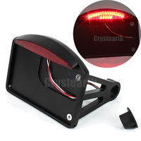Motorcycle LED Side Mount License Plate Bracket Tail Light For Harley Sportster Bobber Chopper with 1 or 3/4 back axle