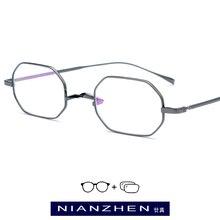 Pure Titanium Eyeglasses Frame Women Small Vintage Square Myopia Optical Prescription Glasses for Men Ultra Light Eyewear 9119