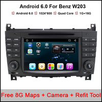 Android 6 0 7 GPS Navi Car DVD Radio Player Stereo For Mercedes Benz W203 C