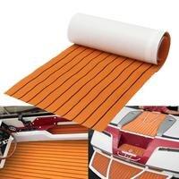 Fashion Luxury Orange Black Line Boat EVA Foam Floor Mat For Cruise Car Boat Self Adhesive