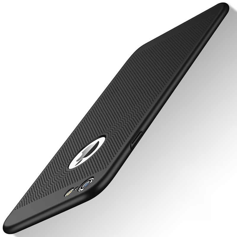 حقيبة لهاتف أي فون X 8 7 6 5 s SE 5 s 6 s زائد 6 زائد 6 sPlus 7 زائد 8 زائد البلاستيك الصلب رقيقة جدا الغلاف الخلفي عالية الجودة غلاف