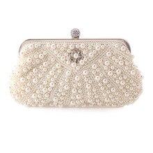 Damen Kristall Perle Clutch Mode Frauen Strass Abendtaschen Braut Hochzeit Partei Geldbörsen Kette Handtasche Bolsas mujer