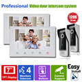 Homefong 7 Inch Colorful LCD Screen Video Doorbell Video Door Phone Home Security Camera Monitor Intercom System 2V2 Slim Design