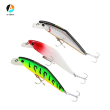 AI-SHOUYU 1pcs Hard Bait Minnow 90mm/12g Fishing Lures Suspending with Trebke Hooks Swimbait Lure for Carp