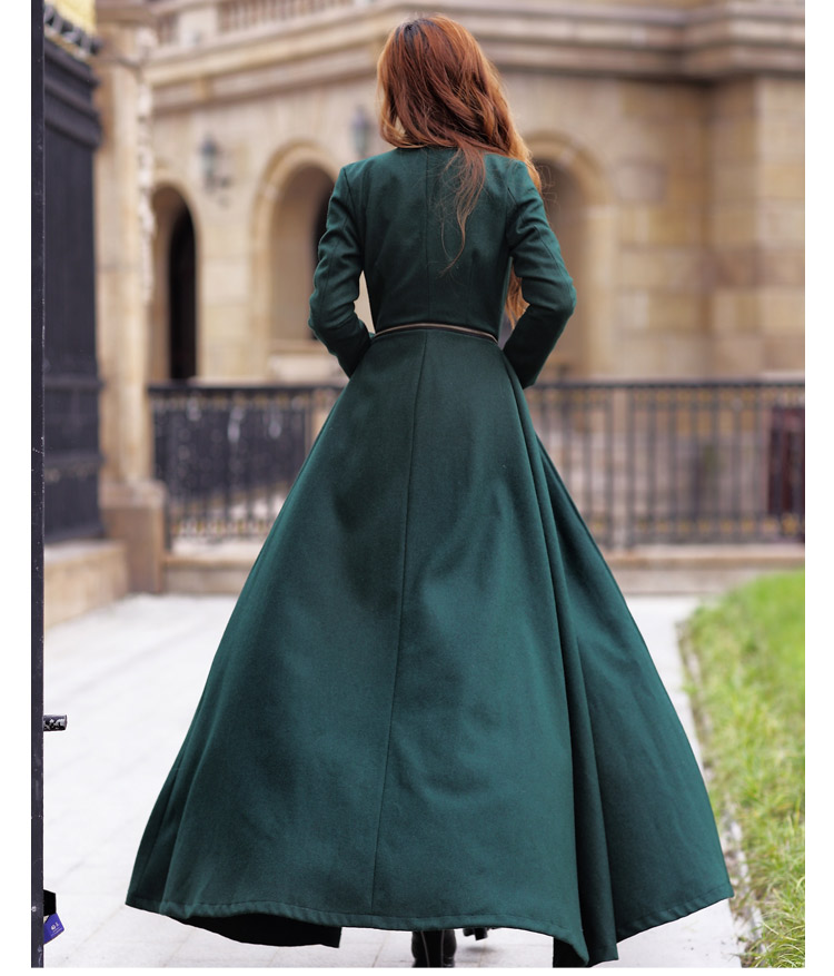 2017The new large size ladies long wool coat of cultivate one's morality, and the land long coat