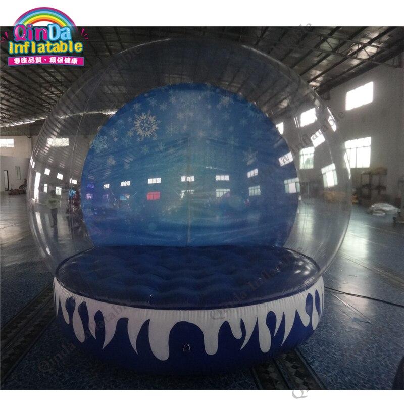 Boule de neige gonflable vide de diamètre de 3 m pour la publicité, boule de neige gonflable géante de décorations de noël