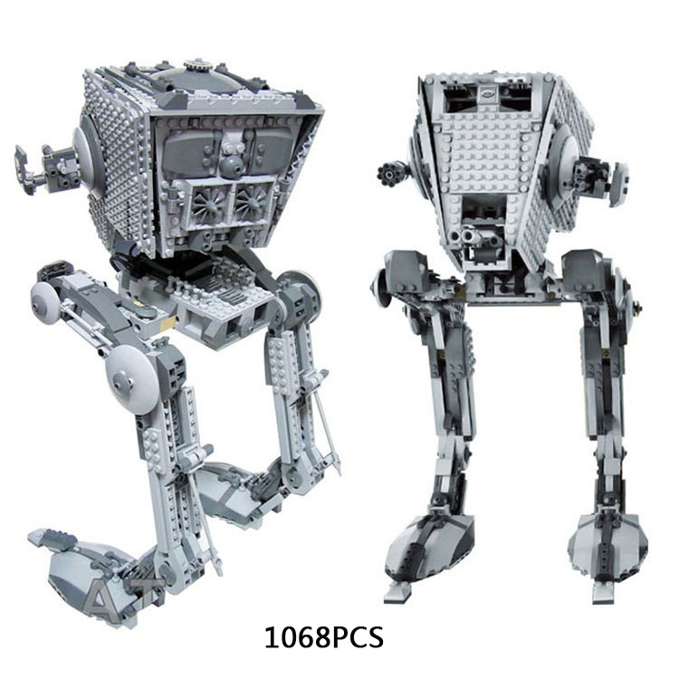 ФОТО Hot star plan space wars Ultimate collector's Imperial AT-ST walking robot building block lepine brick compatible lego10174 toys