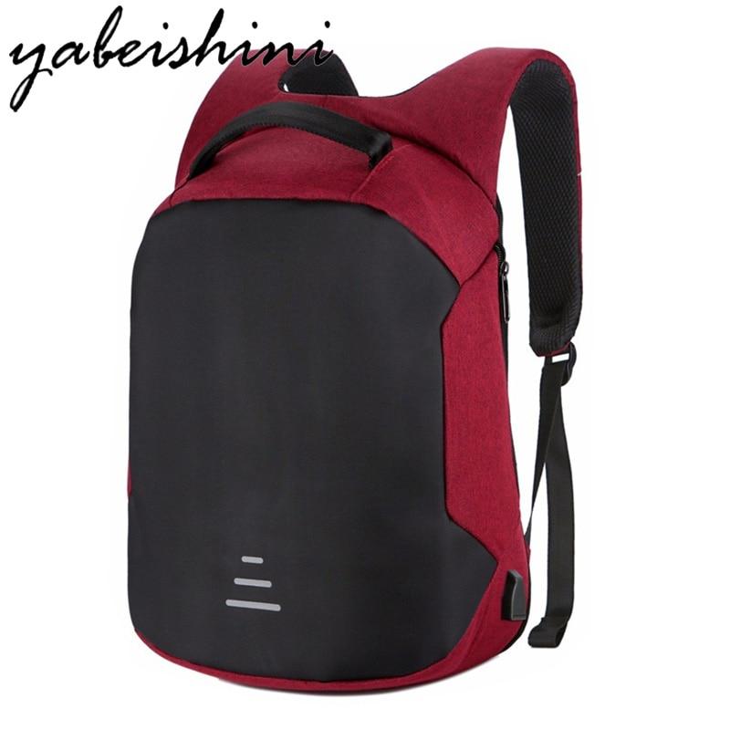 Multifunción 15,6 mochila portátil Anti-robo mochila con carga Usb cuaderno escolar Oxford mochila de viaje impermeable