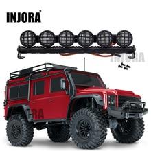 Barra de luz de led multifunção, 152mm, rc crawler traxxas TRX 4 trx4 d90 axial scx10 90046