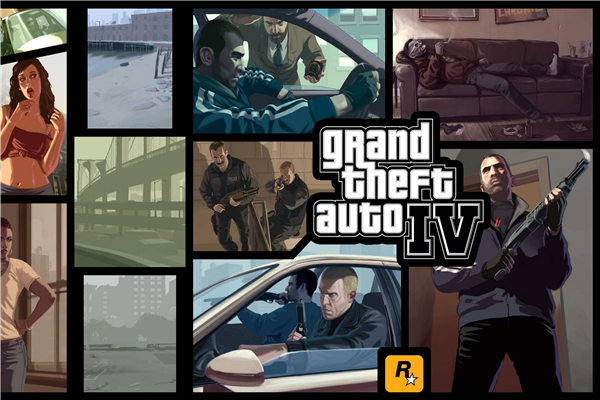 Custom Canvas Art Grand Theft Auto Poster GTA 4 San Andreas Game Wallpaper Grand Theft Wall Stickers Mural Home Decoration #771#