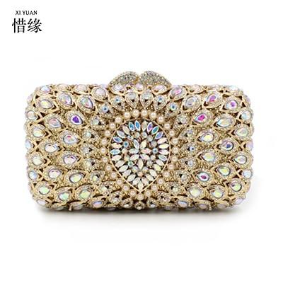 Cristal Soirée Portefeuille Femme Marque Diamant Parti Xiyuan Sacs Messenger Sac Embrayages Bourse Cadeaux De Banquet Or Strass Mariage Pour wxqR0zIWCz