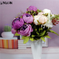 Artificial Peony Flower Bouquet Spring Silk Fake Flower Living Room Decoration Wedding Peony Simulation Plants