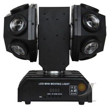 Мини 12x10 Вт RGBW 4в1 светодиодный движущийся головной Луч Двойные держатели сценический свет