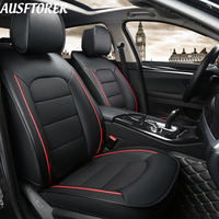 AUSFTORER Real Cowhide Car Seat Covers for Audi A6 Seat Cover Genuine Leather Auto Seats Cushion Protectors Interior Accessories