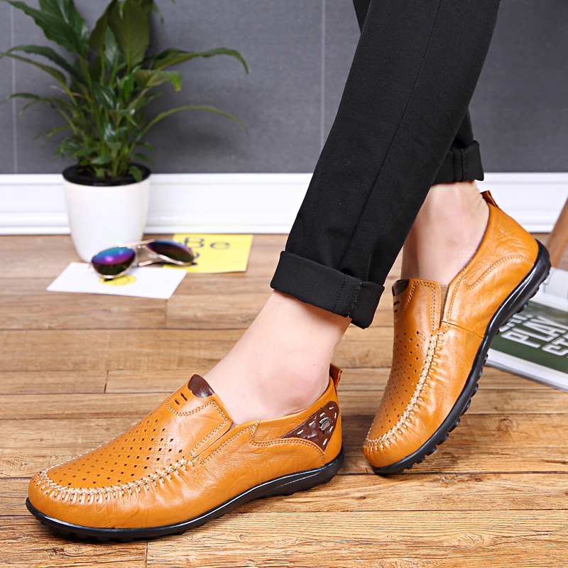Valstone Daily leather shoes Men Breathable hollowed upper 2018 - Men's Shoes - Photo 5