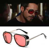 Gafas de sol de Iron Man 3 Matsuda TONY stark Gafas de sol de diseño retro Vintage con revestimiento de Rossi para hombre