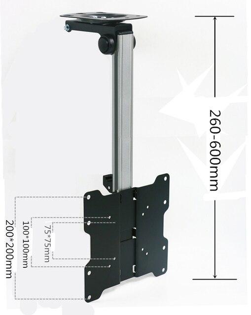 Soporte de Monitor LCD para techo de coche plegable alargado F1440L, pantalla LED de 17 37 pulgadas, colgador de montaje en TV, estante de montaje en pared, soporte para armario y TV