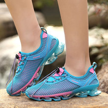 Men Sport Shoes Big Size 35-48 Outdoor Man Breathable Women Blue Pink Climbing Hiking Trainers