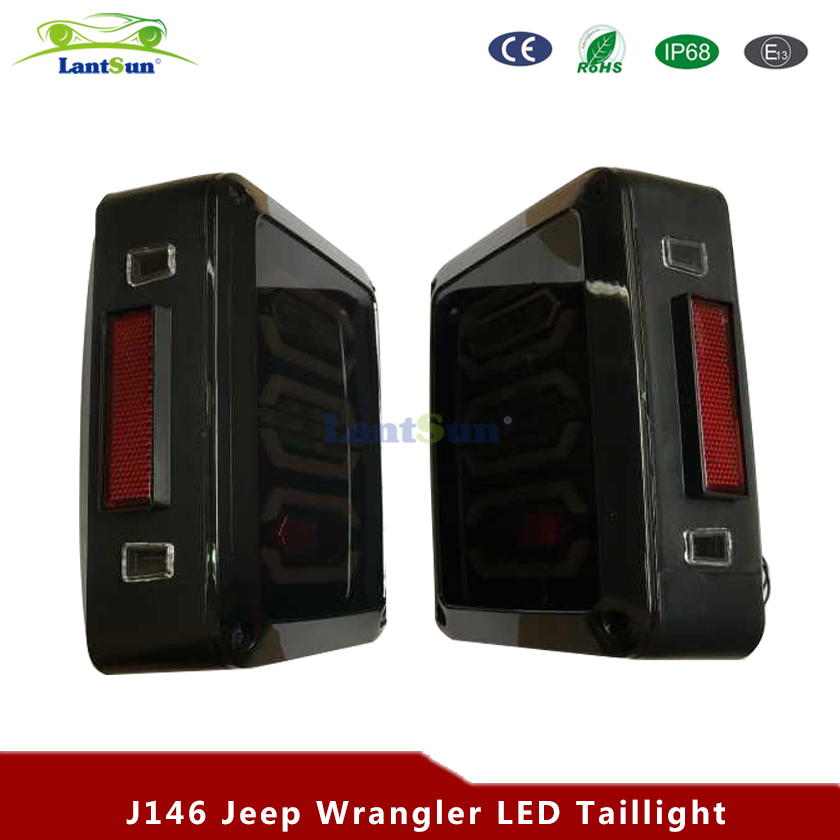 2 pcs J146 new design reverse brake turn signal LED rear tail light kit fits Jeep wrangler JK 2007~2016 2 pcs black car styling parts front rear grab bar handles for jeep wrangler jk 2007 2017 new fashion upgraded