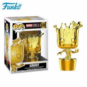 Image 5 - Offizielle FUNKO POP Marvel Die 10th Anniversary Black Panther Eisen Mann Loki Groot Vinyl Puppe & Action Figur Spielzeug Geburtstag geschenk
