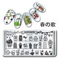 Hot Sale 1Pc Christmas Stamping Plate Drink Shop Nail Art Plate Harunouta Nail Stamp Manicure Template Nail art Tools L022