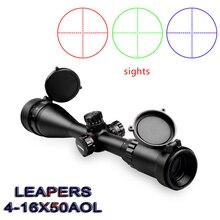 Известный бренд LEAPERS 4-16X50 оптический прицел военный использование открытый охотничий прицел воздушная винтовка снайперская винтовка Специальная справка