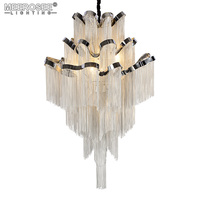 New Arrival Aluminum Chain Chandelier Light Fixture Lustre Hanging Suspension Lamp luminaria Chain Project Lighting