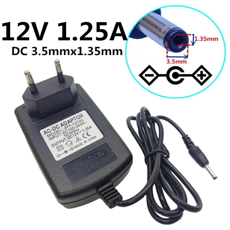 EU Plug AC//DC 12V 1.2A 1200mA Power Supply Cord Adapter 5.5mm x 2.1mm
