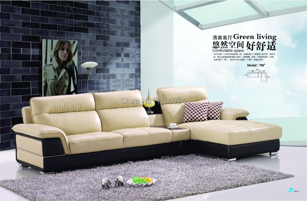 2014 Stylish Design Leisure Functional Leather Sofa With Tea ...