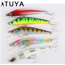 TUYA 1pcs Minnow Fishing Lure 10cm 25.5g Lifelike Bionic fish Synthetic Bait Wobbler sinking Laborious Bait Carp Sort out canine strolling