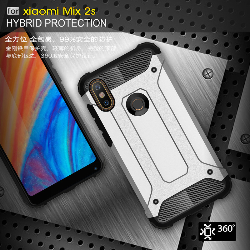 073bbca02 For Xiaomi Mi MIX 2S Hybrid Shockproof Armor Back Case Xaomi Xiomi Mi MIX 2S  2 S Bumper Cases MIX2S Soft TPU and Hard PC Full Cover
