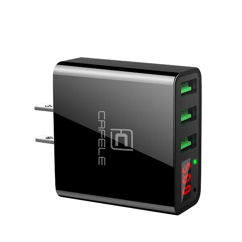 Affichage LED USB Chargeur 3 Ports USB Chargeur UE/US Plug 2A USB Chargeur USB Chargeur Mural