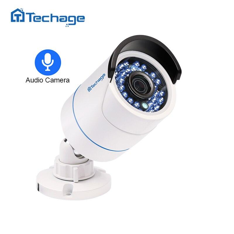 Techage HD 1080 p 2.0MP Sécurité CCTV POE IP Caméra Audio Sound Record Intérieur Extérieur P2P Onvif Surveillance Bullet IP caméra