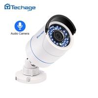Techage HD 1080P 2.0MP Audio Record CCTV POE IP Camera Outdoor Waterproof IR P2P Onvif Security Surveillance Bullet IP Camera