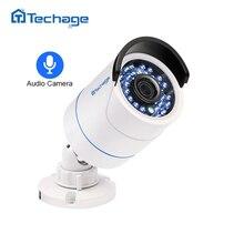 Techage HD 1080 P 2.0MP Seguridad CCTV P2P Onvif POE Cámara IP Audio Sound Record Impermeable Al Aire Libre de Vigilancia de Bala Cámara