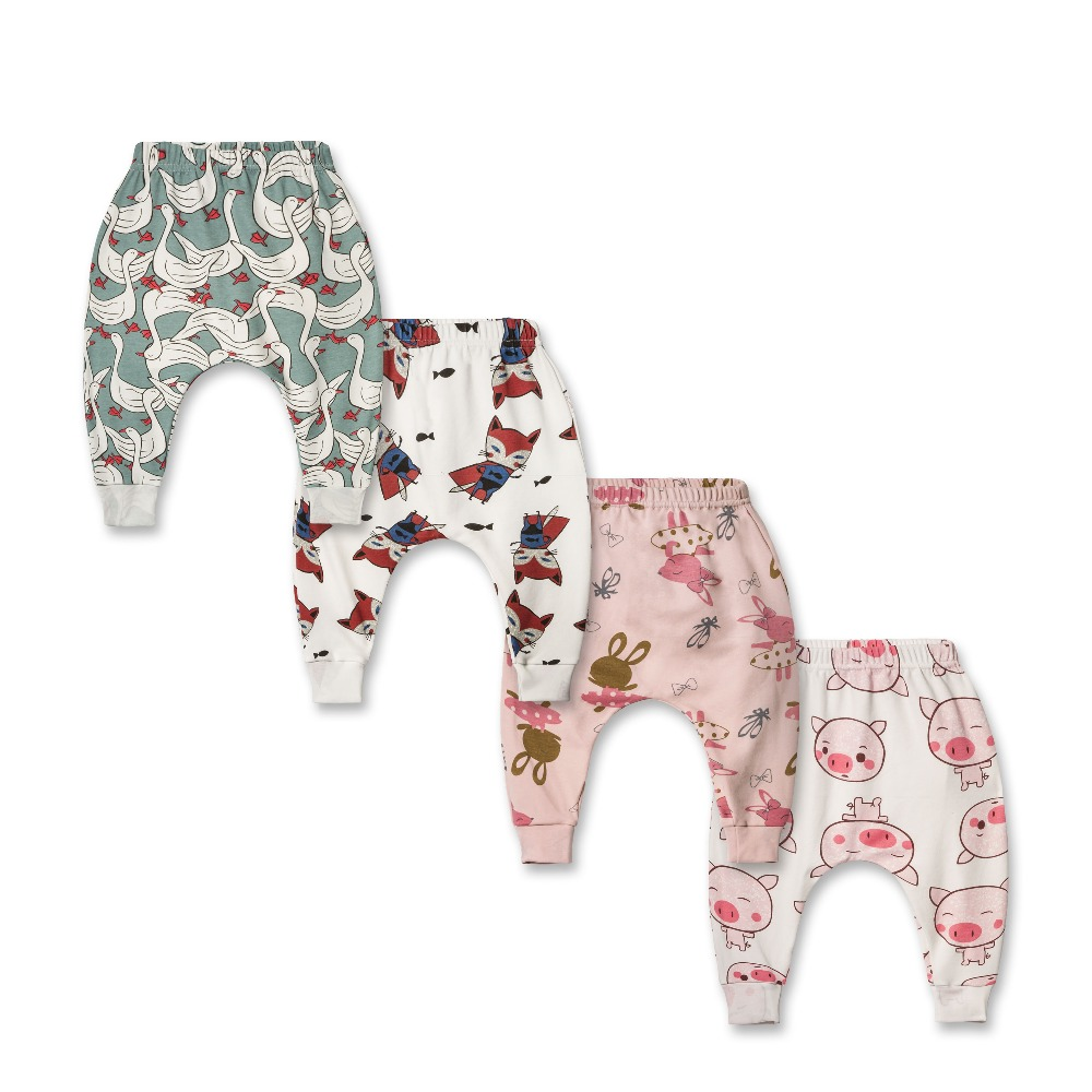 Baby pants baby girl baby clothes cotton pink leggings baby girl pants Printed cotton harem pants z4455