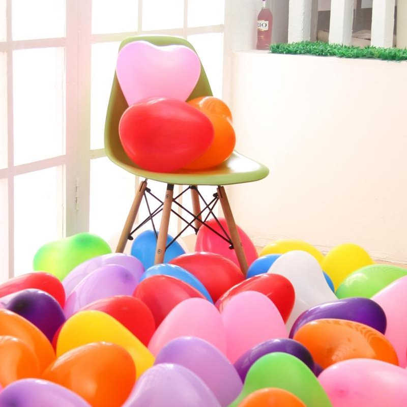 10pcs specials wedding bridal love balloon wedding room set-up and furnishing of heart-shaped Birthday balloons wholesale