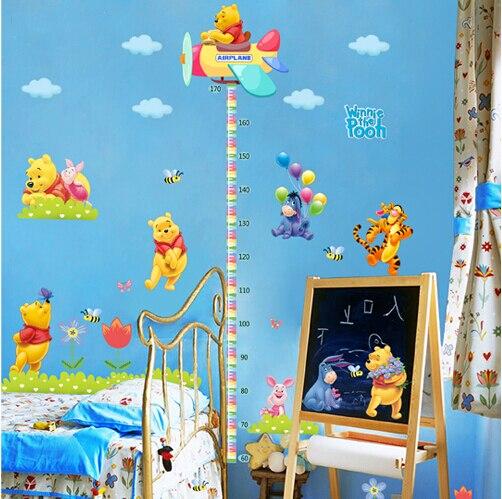Nueva llegada Pooh pegatinas pegatinas de pared altura bebé para ...