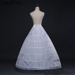 Image 5 - JaneVini 2019 גדול תחתונית 6 חישוקים כדור שמלה שחור קרינולינה תחתונית לבן נשים חתונה שמלת תחתוניות תחתוני כלה