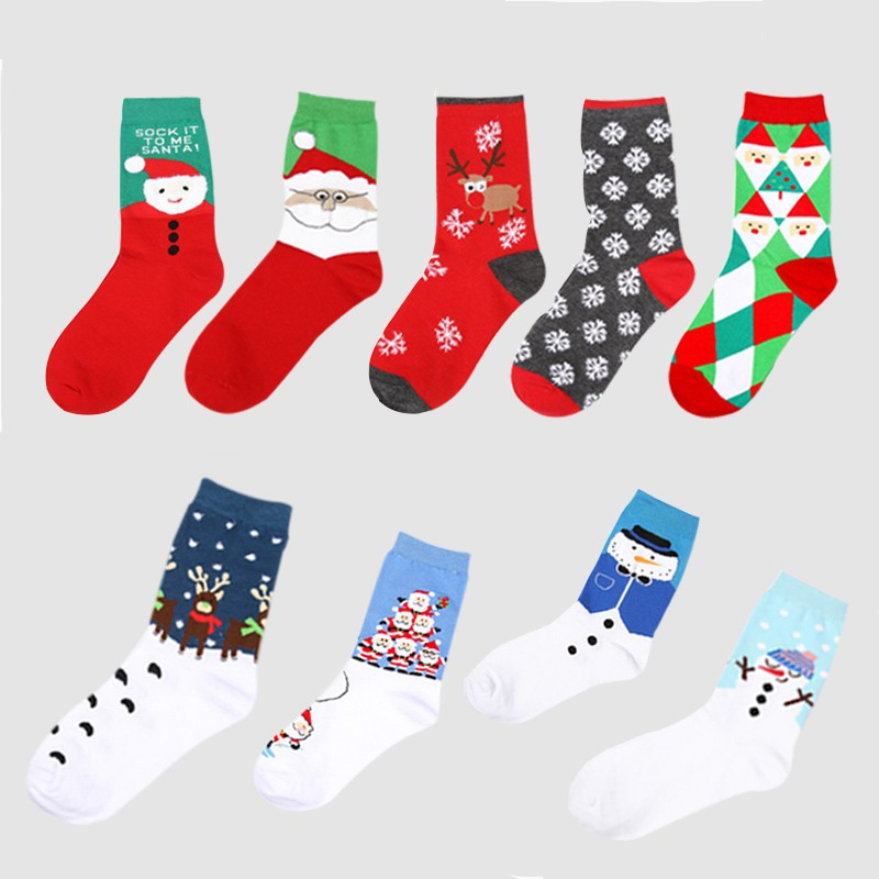 Christmas Japanese Style Winter Warm Socks Cotton Soft Thickness Sports Socks Outdoor Skiing Running Hiking Socks