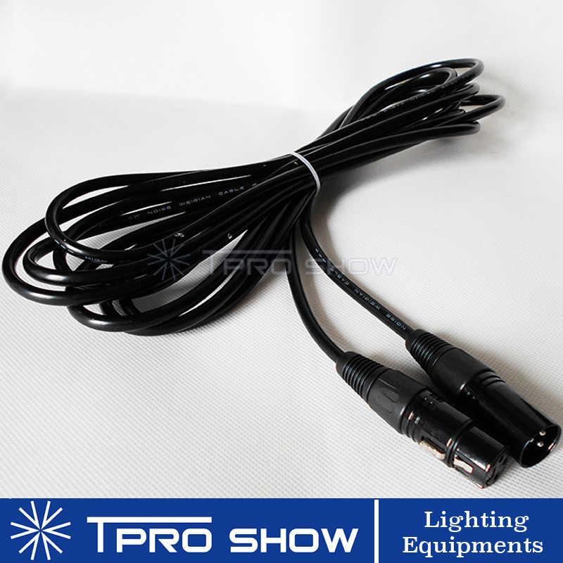DMX кабель Xlr 3pin разъем Dmx 512 сигнал для беспроводной контроллер DMX Dj светильник светодиодный лазерный движущаяся головка дымовая машина 1-15 метров