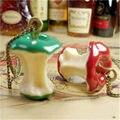 Moda retro vintage verde/vermelho bonito da apple core pingente colar de cadeia longa camisola para a mulher de jóias