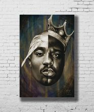 G-580 Notorious B.I.G Biggie Smalls Tupac Shakur Hip Hop Fabric Home Decoration Art Poster Wall Canvas 12x18 20x30 24x36inch Pri(China)