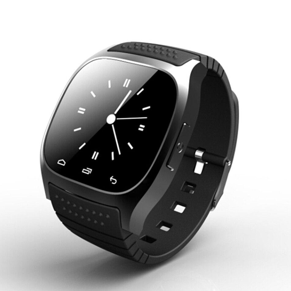 Bakeey M26 reloj de pulsera Bluetooth R-reloj SMS Anti perdido la vida inteligente impermeable deporte Digital relojes para Android para las mujeres de los hombres