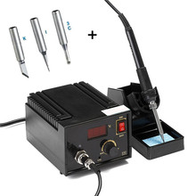Toptan Fiyat 967 110 V 220 V Black Metal Elektro Rework Lehimleme İstasyonu Demir LCD Ekran Sökme SMD