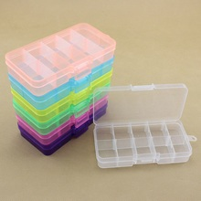 10 Detachable Storage Box Convenient Ten Grid Can Be Assembled PP Plastic Jewelry Earring Necklace Boxes Bead Finishing Case